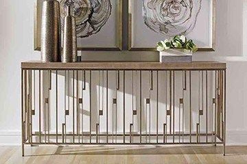 lexington home brands metallic console