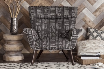 popular Huntington house chair with tribal pattern