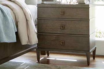 universal furniture nightstand with square pulls