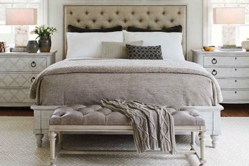 lexington home brands tufted panel bed