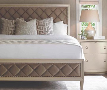 Contemporary style bed