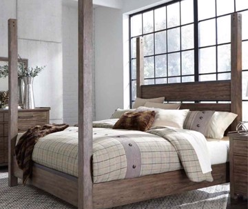 industrial style bed