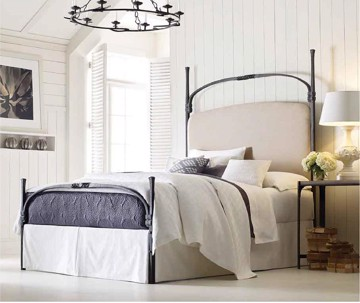 classic Iron Bed in a farmhouse bedroom