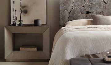 Grey modern geometric nightstand