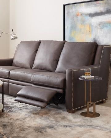 leather reclining sofa
