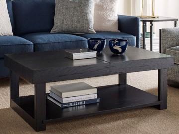 Dark wood cocktail table