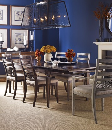 wooden dining chairs with dining table
