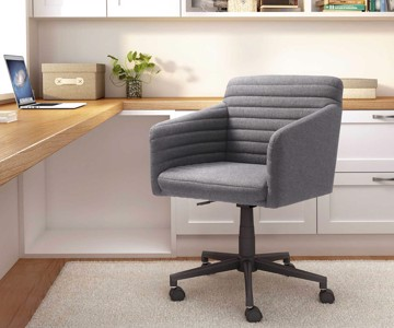 transitional gray desk chair