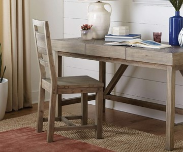 cottage style writing desk and task chair