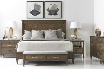 Brown wood bedroom suite