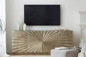 Gold Geometric media console
