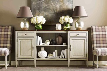 chaddock traditional sideboard with neutral accessories