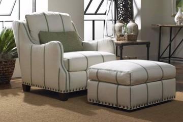 pinstripe farmhouse armchair