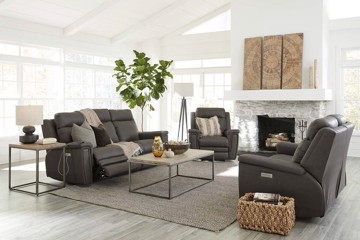 Brown leather motion sofa with brown leather motion recliners