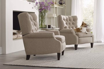 Sam Moore beige motion chairs