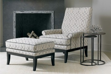 Sherrill chair with ottoman