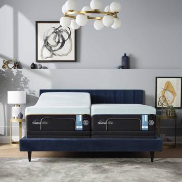 tempur-pedic mattress in bedroom