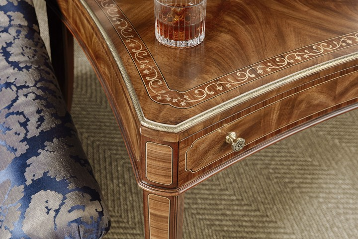 details of traditional accent table