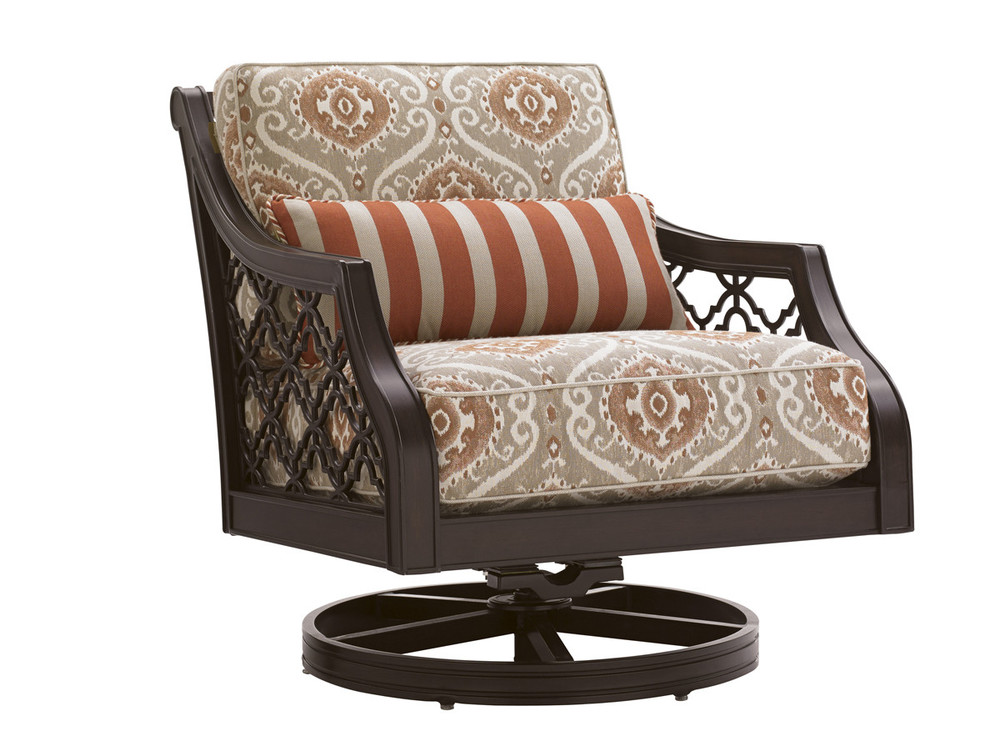 Lexington - Royal Kahala Black Sands Swivel Rocker Lounge Chair