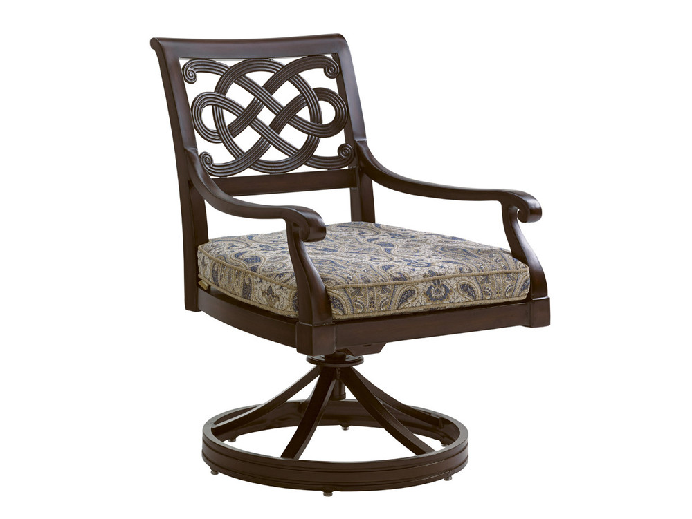 Lexington - Royal Kahala Black Sands Swivel Rocker Dining Chair
