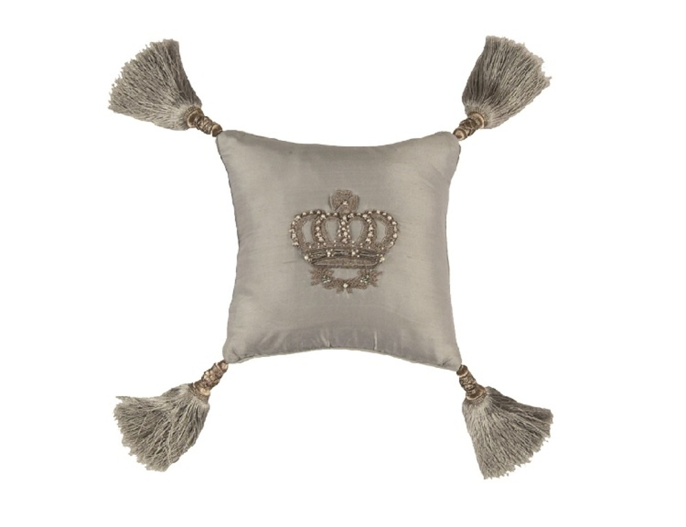 Lili Alessandra - Imperial Crown Small Square Pillow