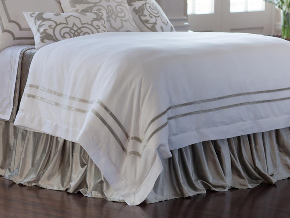 Lili Alessandra - Soho White Linen Duvet Cover
