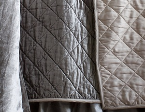 Thumbnail of Lili Alessandra - Chloe King Diamond Quilted Coverlet