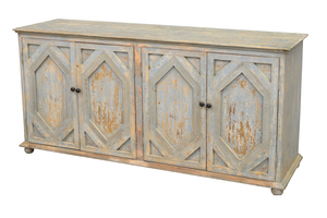 Thumbnail of GJ Styles - Carved Sideboard, Distressed Light Blue