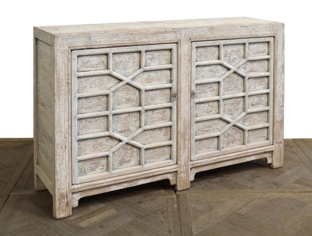 GJ Styles - Lattice Front Two Door Cabinet
