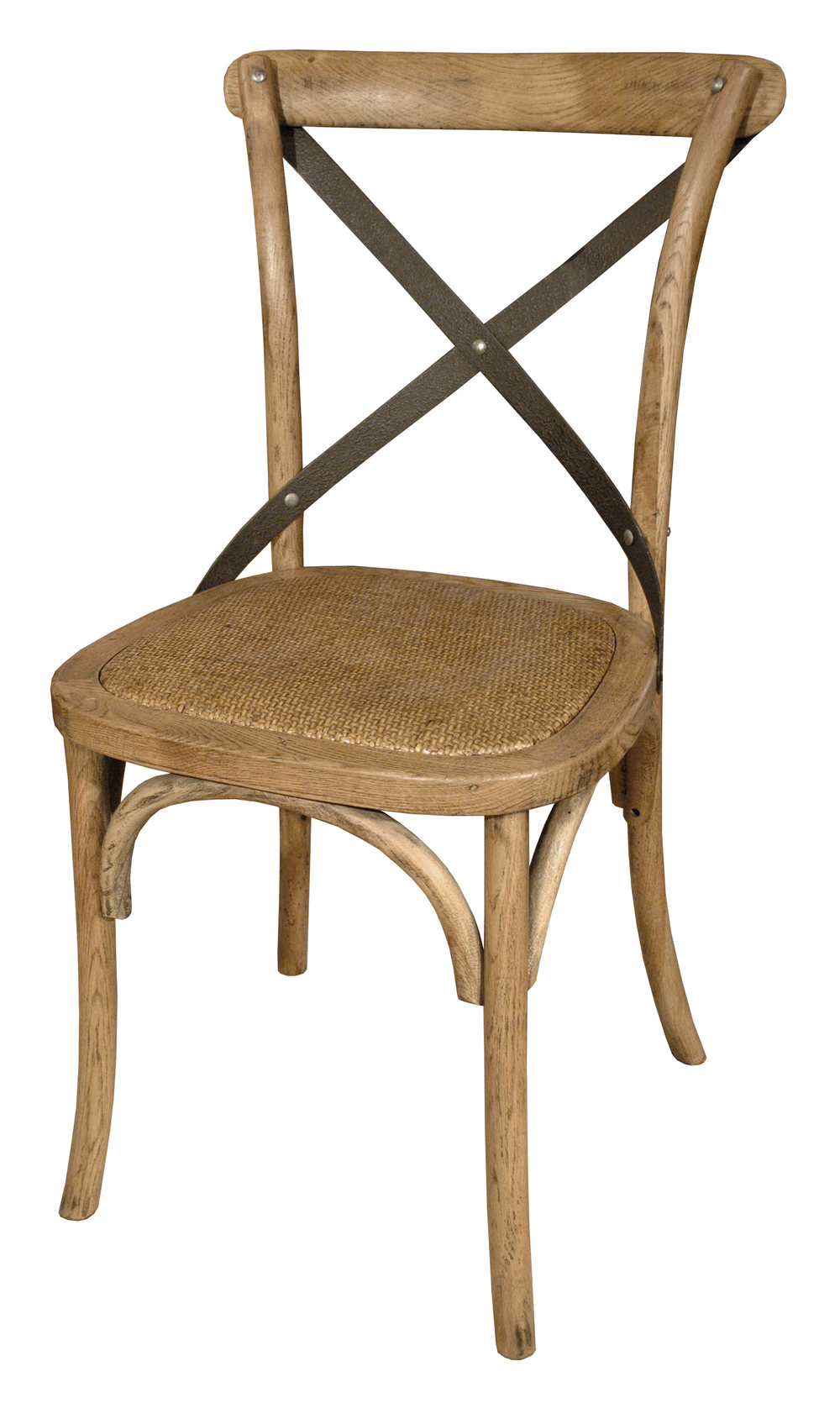 GJ Styles - Cross Chair Natural with Braided Seat