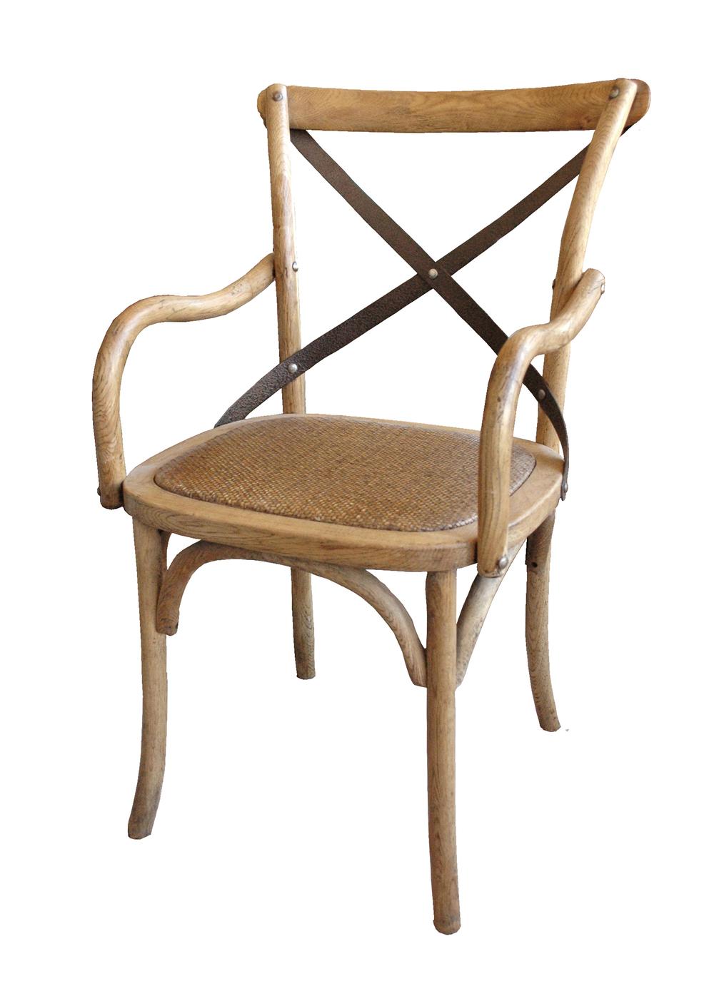 GJ Styles - Cross Arm Chair with Metal Cross