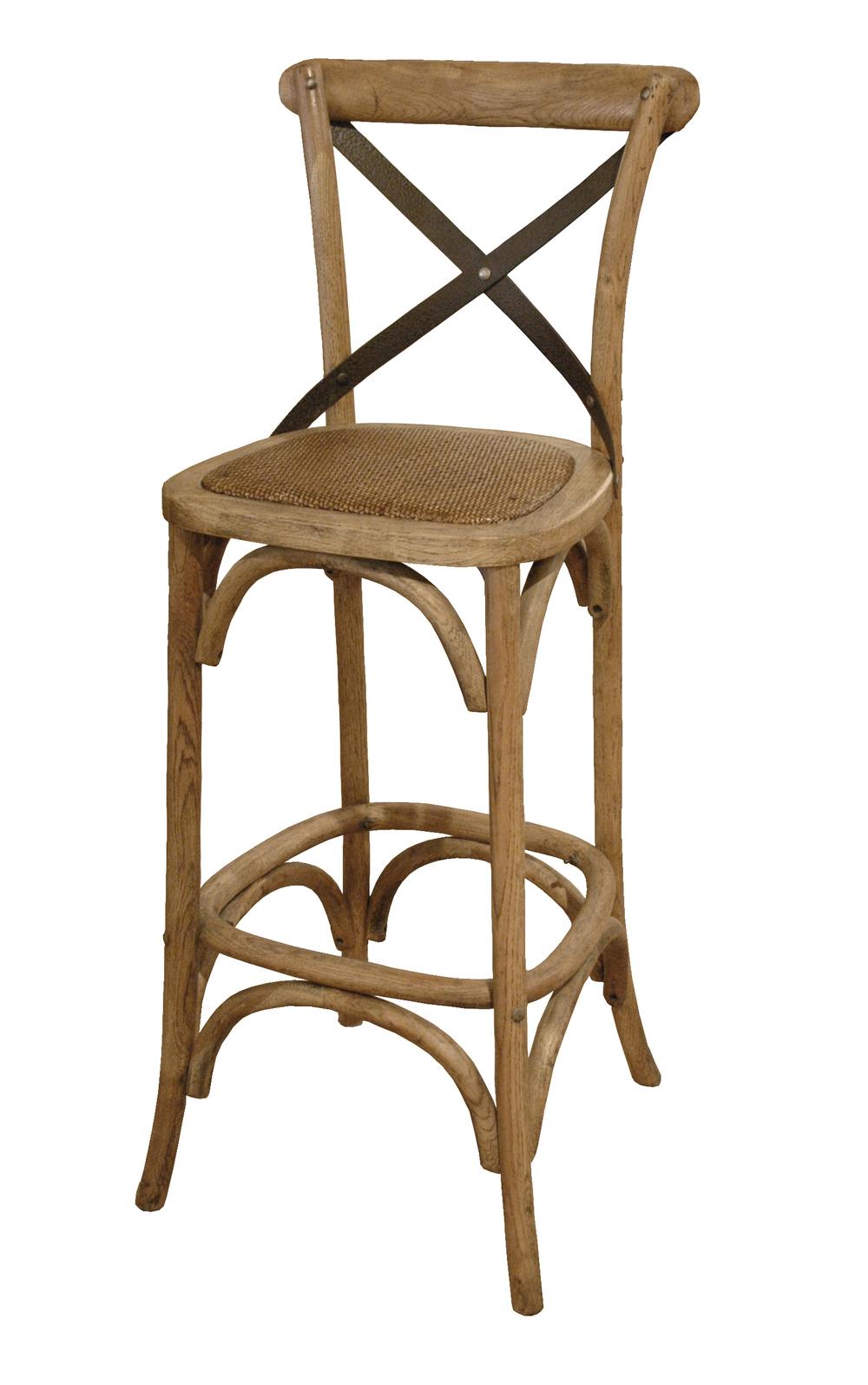 GJ Styles - Bar Chair with Metal Cross