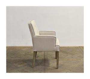 Thumbnail of GJ Styles - Square Back Linen Arm Chair with Oak Leg