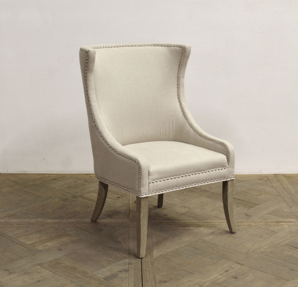 GJ Styles - Linen Arm Chair