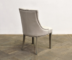 Thumbnail of GJ Styles - Square Back Tufted Linen Side Chair