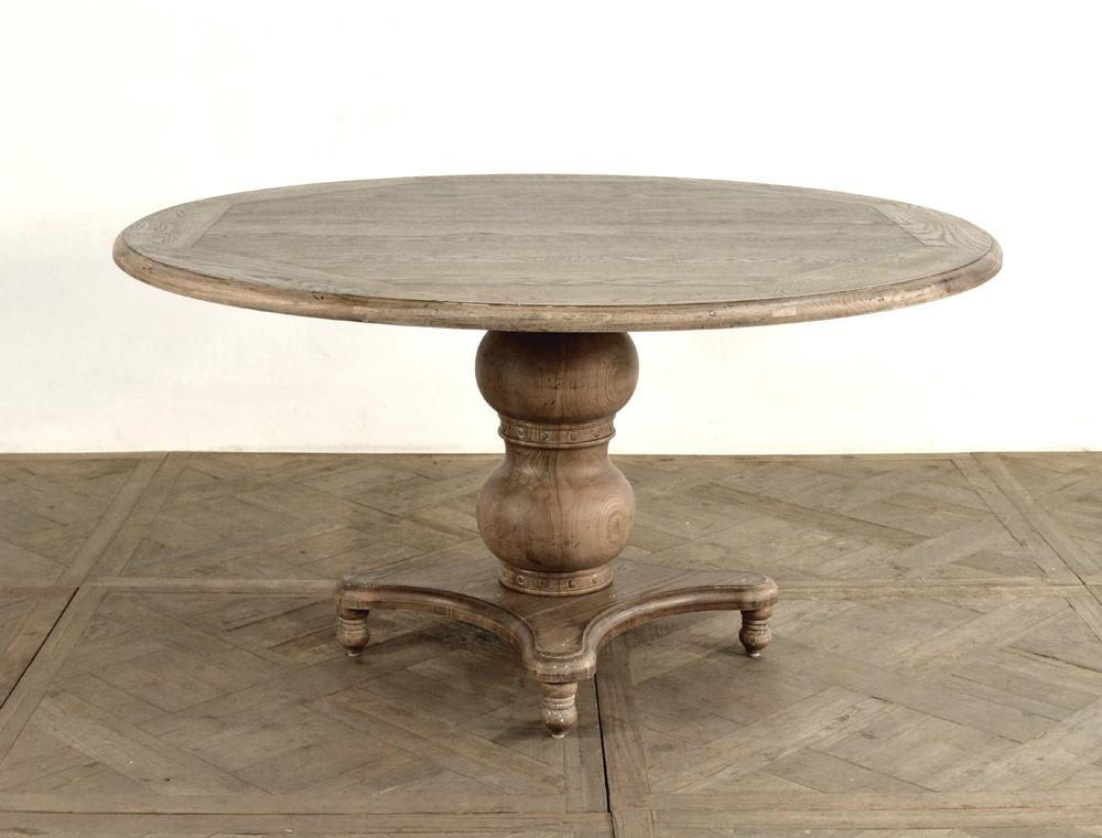 GJ Styles - Round Pedestal Dining Table, Oak