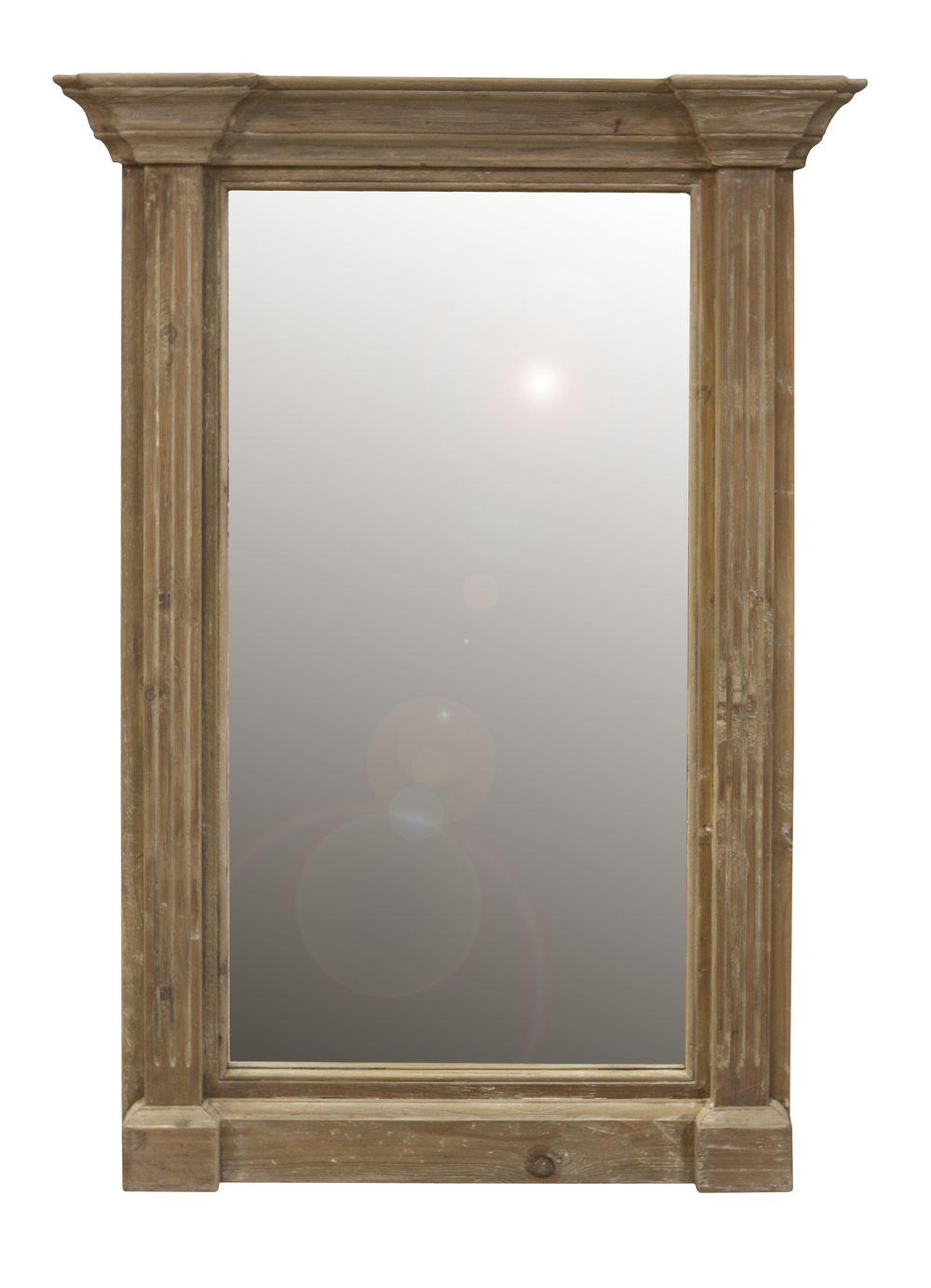 GJ Styles - Wall Mirror, Washed Pine