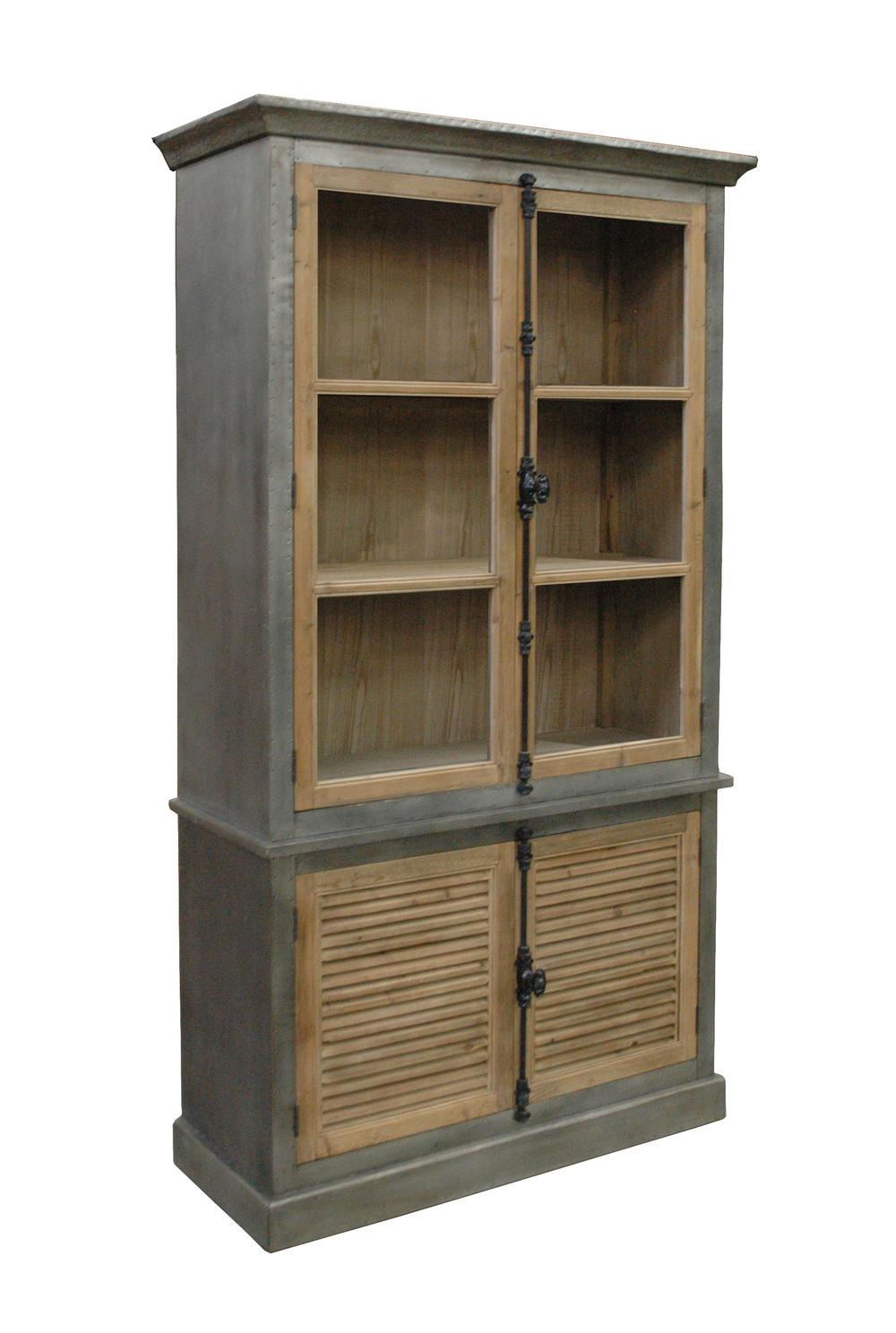 GJ Styles - Zinc Wrapped Bookcase