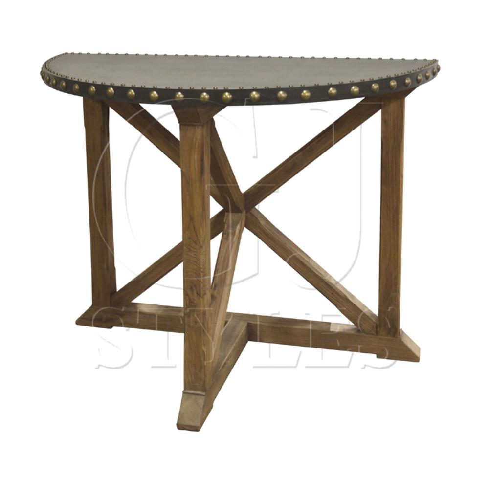 GJ Styles - Demilune Console Table