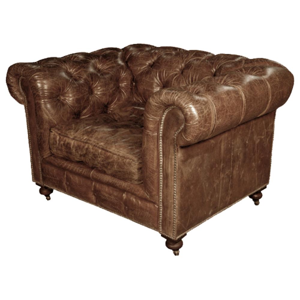 GJ Styles - Kensington Arm Chair, Vintage Cigar