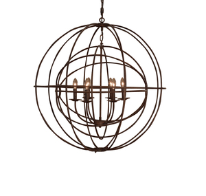 Thumbnail of GJ Styles - Double Orb Chandelier, Rustic Iron