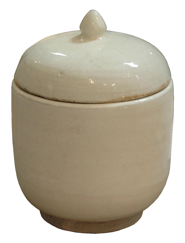 GJ Styles - White Porcelain Pot with Lid