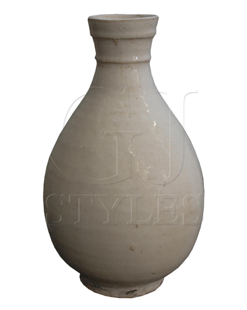 GJ Styles - White Porcelain Small Round Vase