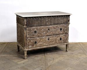 Thumbnail of GJ Styles - Morgan Single Vanity with Marble Top