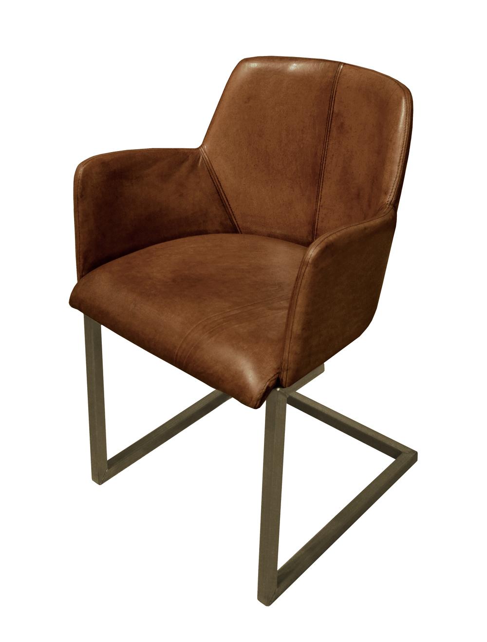 GJ Styles - Steve Arm Chair, Light Brown Buffalo