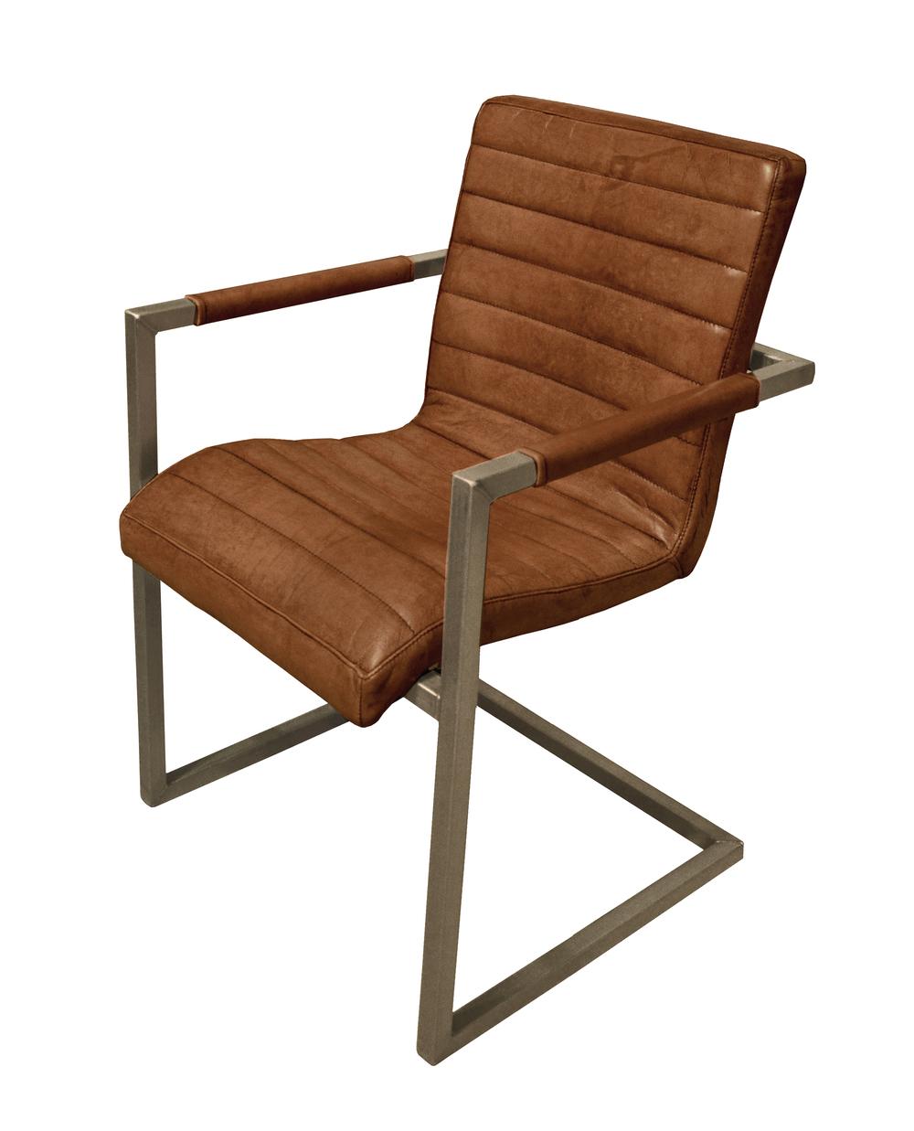 GJ Styles - Sabina Arm Chair, Light Brown Buffalo