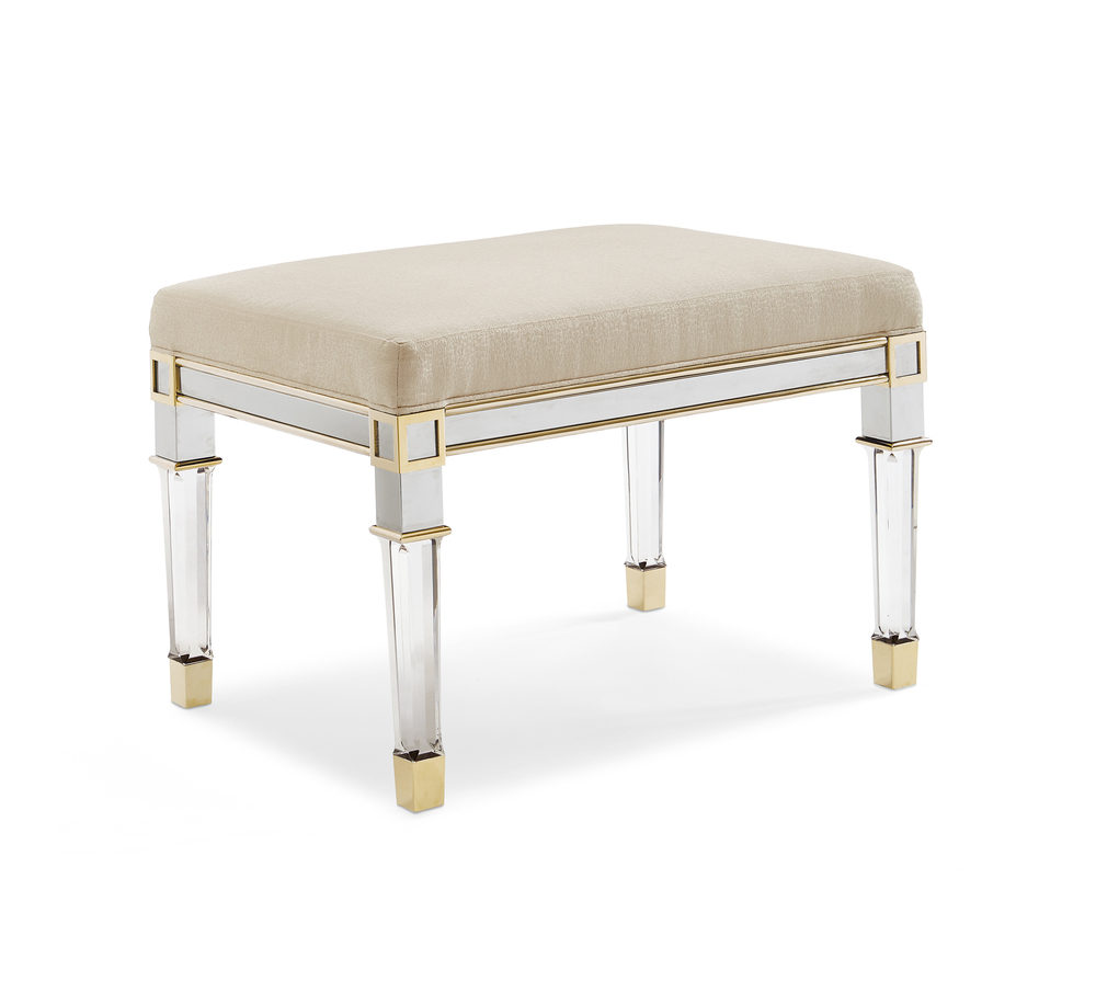 Caracole - Silver & Gold Bench