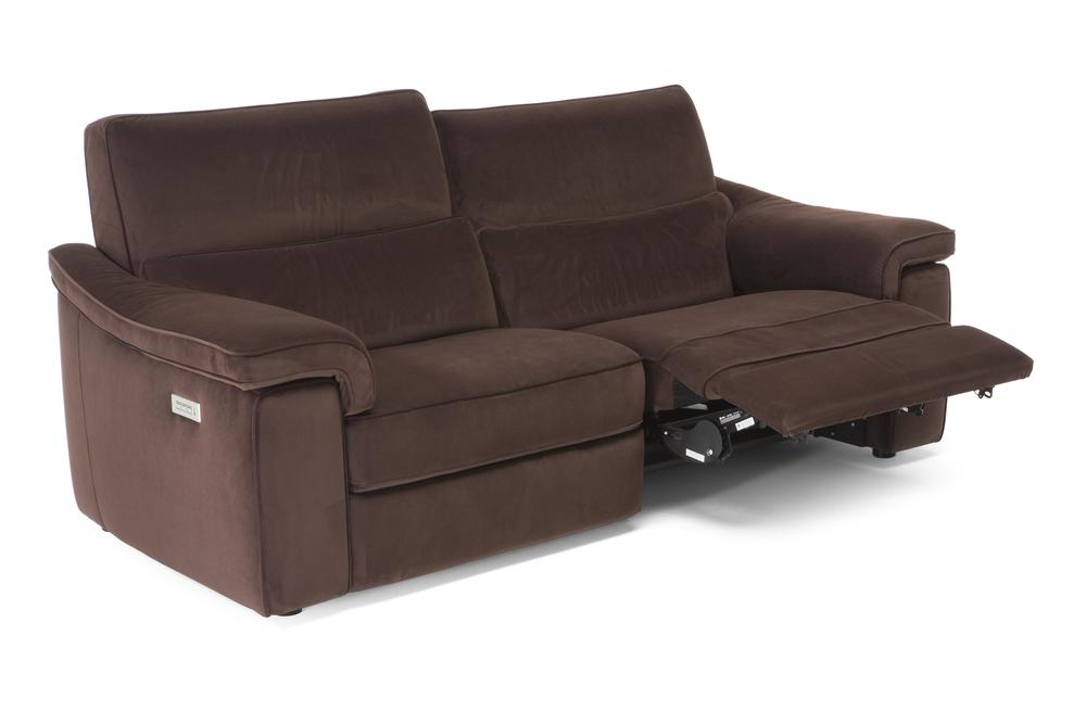 Natuzzi Italia - Rock 2 Cshn Sofa, 2 Mech, Triple Electric Motion