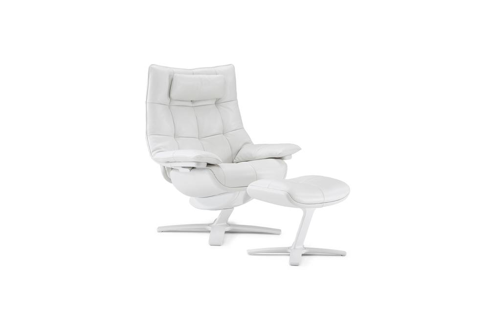Natuzzi Italia - Quilted Queen Arm Chair, Footrest & Headrest