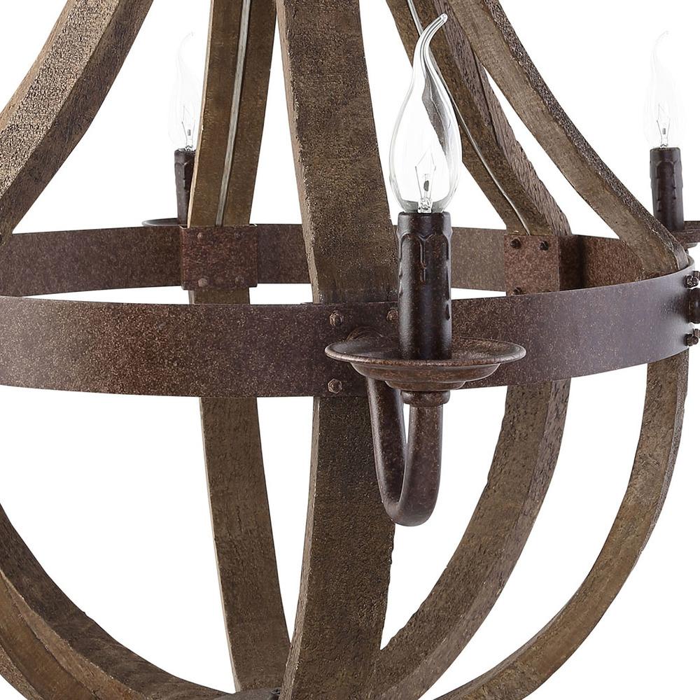 Modway Furniture - Ballista Chandelier, Antique Brass